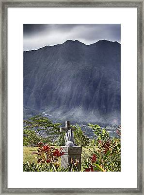 The Cross Framed Print by Douglas Barnard