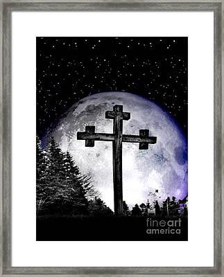 The Cross Framed Print by Nina Ficur Feenan