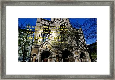 The Cross Of Christ Framed Print by Terry Wallace
