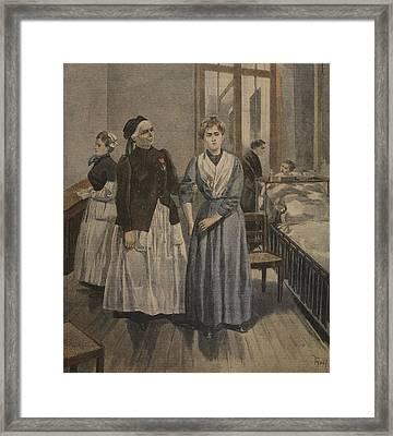 The Cross Of Honour For Madamoiselle Framed Print by F.L. & Tofani, Oswaldo Meaulle