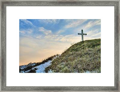 The Cross On Pensacola Beach Framed Print by JC Findley