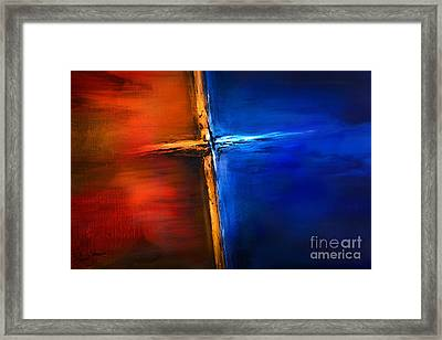 The Cross Framed Print by Shevon Johnson