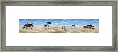The Crossing Panorama Framed Print by Mike McGlothlen
