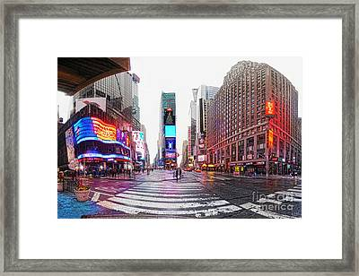 The Crossroads Of The World Framed Print by Nishanth Gopinathan