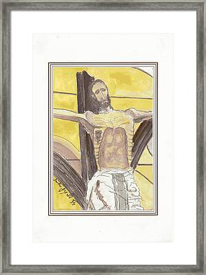 The Crucified From Piran Framed Print by Marko Jezernik