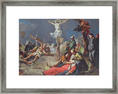 The Crucifixion Framed Print by Giovanni Battista Tiepolo