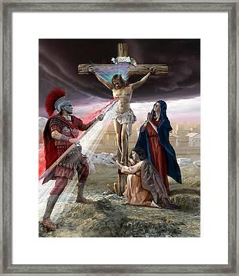 The Crucifixion Framed Print by Kurt Miller