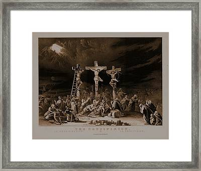 The Crucifixion / La Crucificazion / La Crucifixion  Framed Print by N Currier the Firm