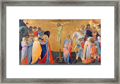 The Crucifixion Framed Print by Master of the Madonna of San Pietro of Ovila