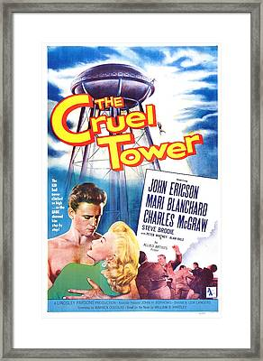 The Cruel Tower, Us Poster, From Left Framed Print by Everett
