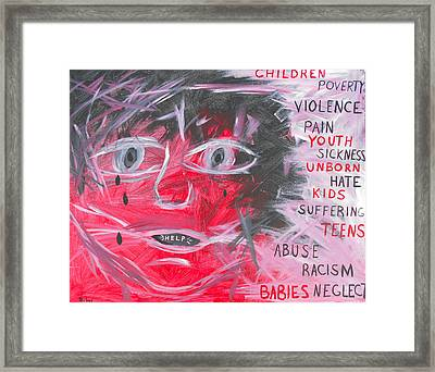 The Cry Of The Least Of These Framed Print by Dayna  Lopez