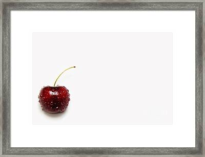 The Crying Cherry Framed Print by Andee Design