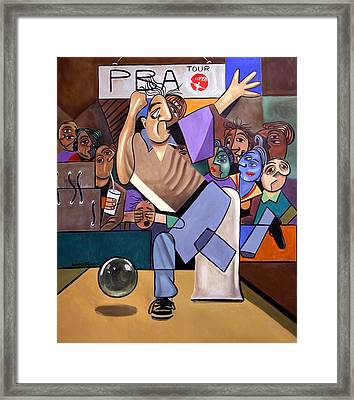 The Cubist Bowler Framed Print by Anthony Falbo
