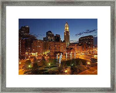 The Custom House Tower In Boston Framed Print by Juergen Roth
