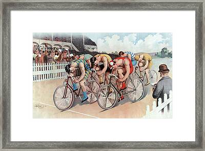 The Cycle Race Framed Print by American School