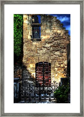 The Cypress And The Bell France Framed Print by Tom Prendergast