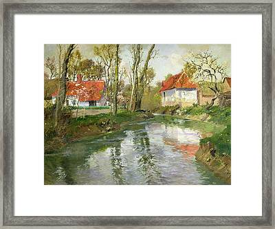 The Dairy At Quimperle Framed Print by Fritz Thaulow