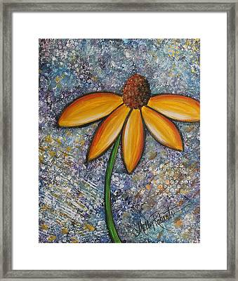 The Daisy Framed Print by Molly Roberts