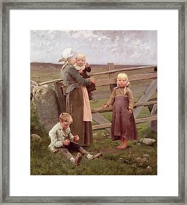 The Dalby Gate Framed Print by Hugo Salmson
