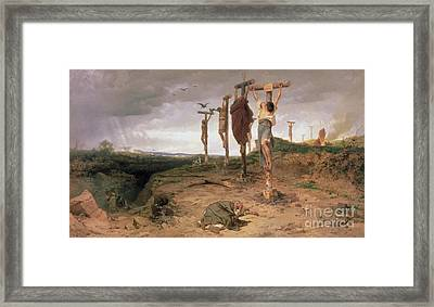 The Damned Field Execution Place In The Roman Empire Framed Print by Fedor Andreevich Bronnikov