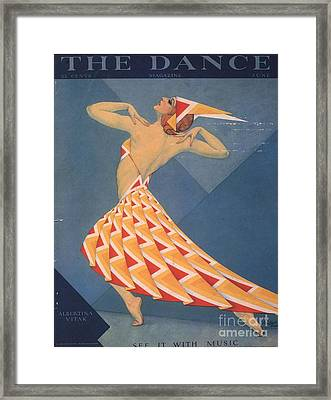 The Dance 1920s Usa Art Deco Magazines Framed Print by The Advertising Archives