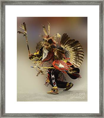 Pow Wow The Dance Framed Print by Bob Christopher