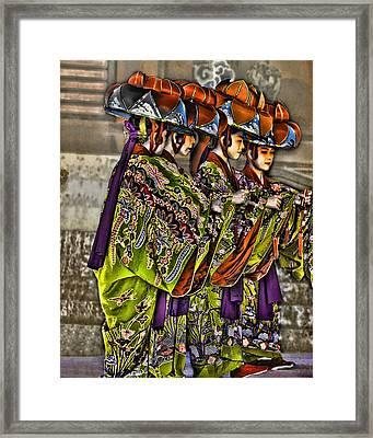 The Dance Framed Print by Karen Walzer