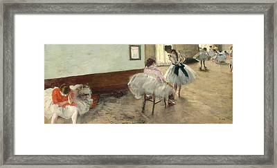 The Dance Lesson Framed Print by Edgar Degas