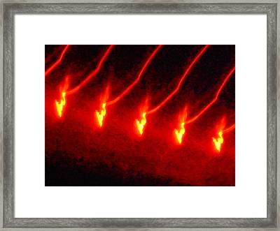 The Dance Of Gold Framed Print by James Welch