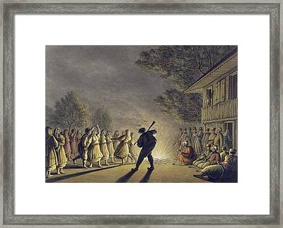 The Dance Of The Bulgarian Peasants Framed Print by Luigi Mayer