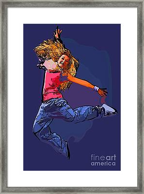 The Dancer 66 Framed Print by College Town