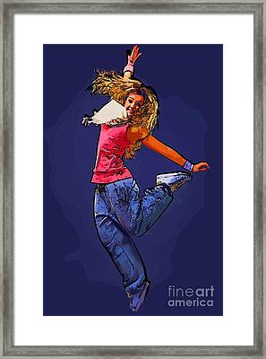 The Dancer 67 Framed Print by College Town