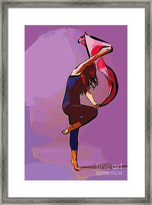 The Dancer 68 Framed Print by College Town