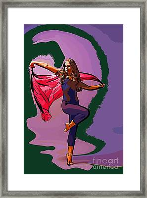 The Dancer 69 Framed Print by College Town