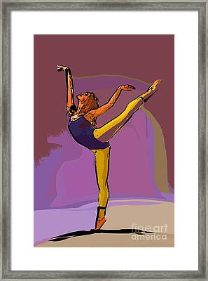 The Dancer 71 Framed Print by College Town
