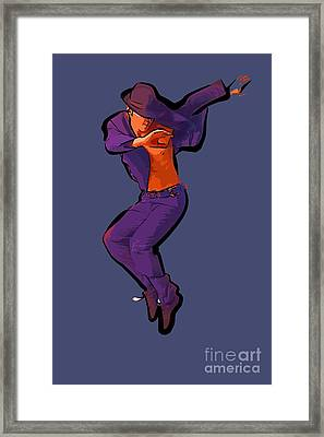 The Dancer 80 Framed Print by College Town