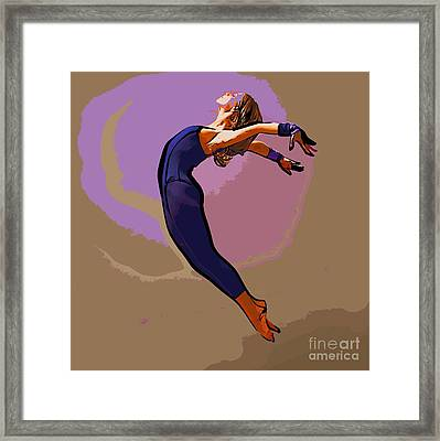The Dancer 85 Framed Print by College Town