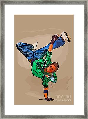 The Dancer 95 Framed Print by College Town