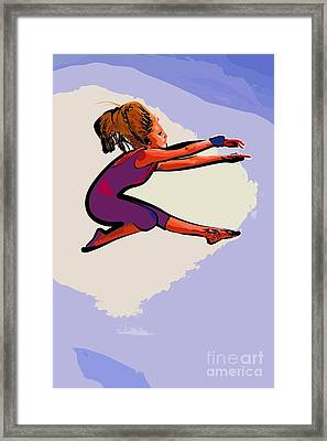 The Dancer 97 Framed Print by College Town