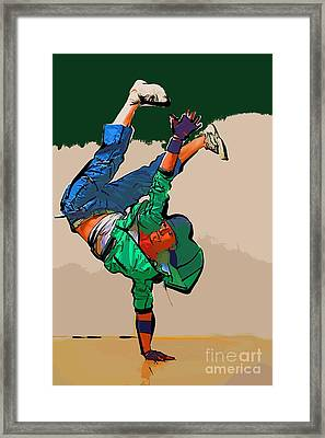The Dancer 99 Framed Print by College Town