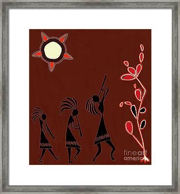 The Dancers Framed Print by Barbara Drake