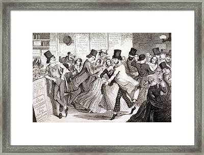 The Dancing Rooms, Plate 3 Of The Framed Print by George Cruikshank