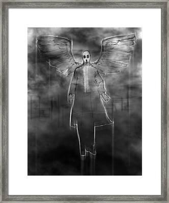 The Dark Angel Framed Print by H James Hoff