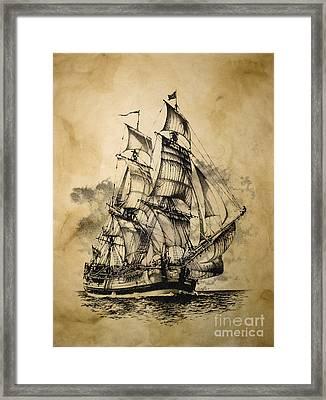The Dark Endeavor Framed Print by Brad Cooper