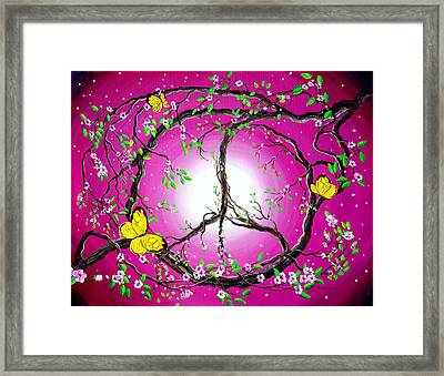 The Dawn Of Peace Framed Print by Laura Iverson