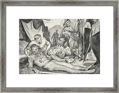 The Death Of Beowulf Framed Print by John Henry Frederick Bacon