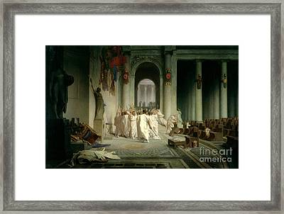 The Death Of Caesar Framed Print by Jean Leon Gerome