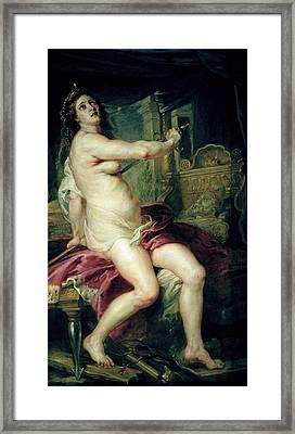 The Death Of Dido Framed Print by Rubens
