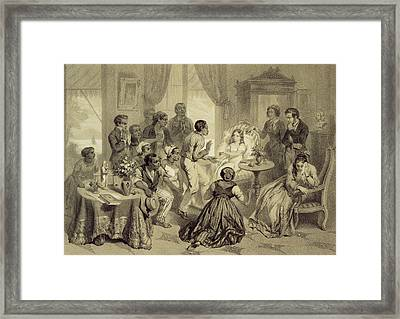 The Death Of Evangeline, Plate 6 Framed Print by Adolphe Jean-Baptiste Bayot