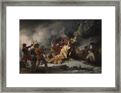 The Death Of General Montgomery In The Attack On Quebec, December 31, 1775, 1786 Oil On Canvas Framed Print by John Trumbull